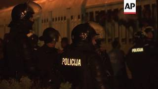 1800 arrive by train at migrant camp in Slovenia