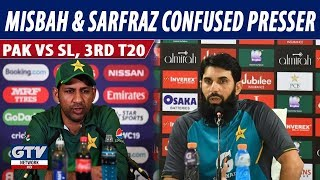 Misbah and Sarfraz Confused Press Conference after Srilanka white washed Pakistan in 3rd T20