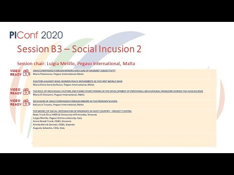 Session B3- Social Inclusion 1