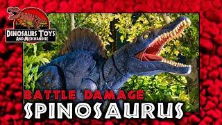 Jurassic World Battle Damage Spinosaurus von Mattel Review Deutsch / German