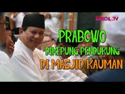 Prabowo Dikepung Pendukung Di Masjid Kauman