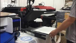 熱轉印帆布袋|DTF-A3桌上型直噴膠片印表機|數位直噴轉印膠膜|DTF |Direct to film printing|熱轉設備印推薦|奕昇有限公司