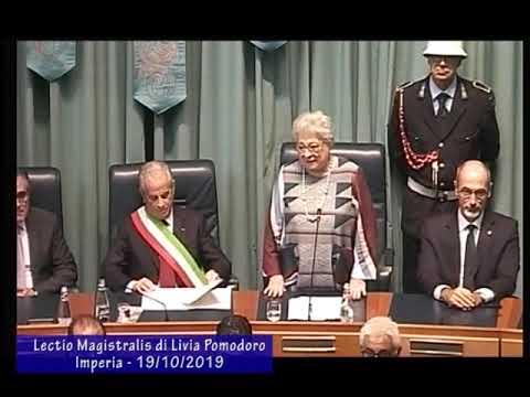 IMPERIA: LA LECTIO MAGISTRALIS DI LIVIA POMODORO - INTEGRALE