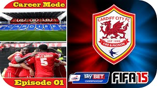 preview picture of video 'FIFA 15   Cardiff City Career Mode   Episode #1   Capital One Cup Rd1'