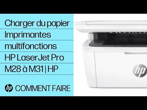 Charger du papier dans les imprimantes multifonctions HP LaserJet Pro M28 à M31
