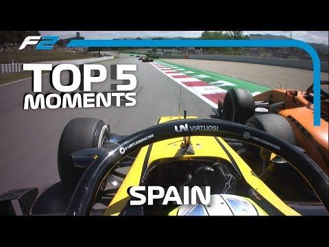 Top 5 Formula 2 Moments | 2019 Spanish Grand Prix