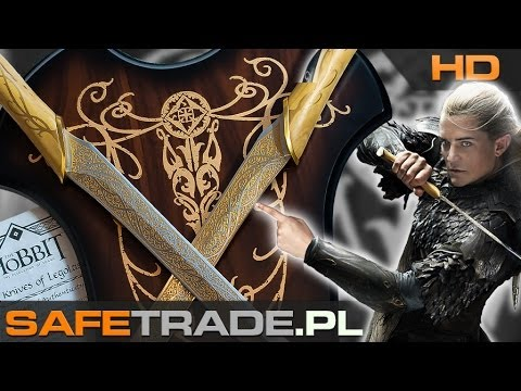 Hobbit Fighting Knives of Legolas Greenleaf Swords United Cutlery Miecze Lord of The Rings Unboxing