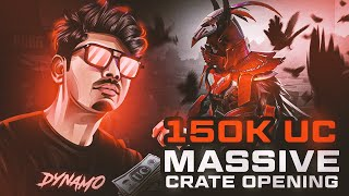 150K UC LIVE CRATE OPENING ON 150K LIKES | BLOOD RAVEN X-SUIT LEVEL MAX