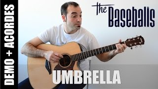 Umbrella - The Baseballs (Cover Rihanna) letra y ACORDES GUITARRA FÁCIL paso a paso
