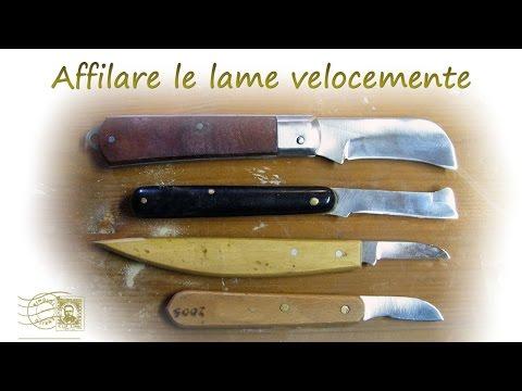 Affilare coltelli da intaglio