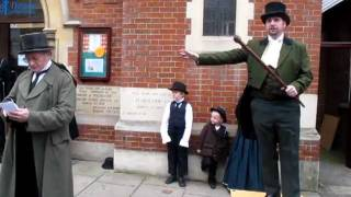 preview picture of video 'Humbug Theatre Company - A Christmas Carol - Rochester Dickens Festival 2011'