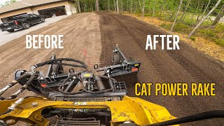 Grading 1.5 Acres with Cat Track Skid Steer