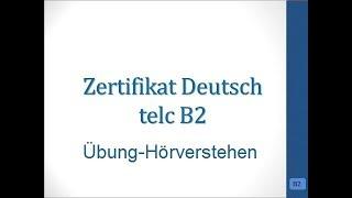 Modelltest 1 B2 Hörverstehen Prüfung Telc Mit Lösung Awesome Life
