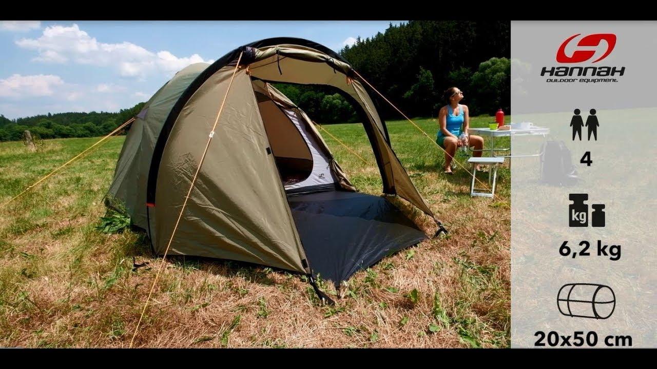 Видео Палатка четырехместная Hannah Atol 4 оливковая