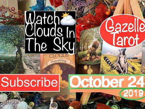 October 24 2019 Daily Tarot Reading ⛅️ Watching Clouds 👀🦉#tarot #tarotreading #tarotreader