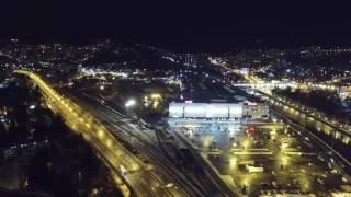 Потрясающий вид на ночной Сочи с квадрокоптера!