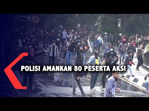demo omnibus law ricuh polisi amankan orang dalami keterlibatan oknum