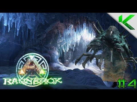 ARK   ICE CAVE GIANT WORM!   NEW DLC RAGNAROK - MadMorph - Video