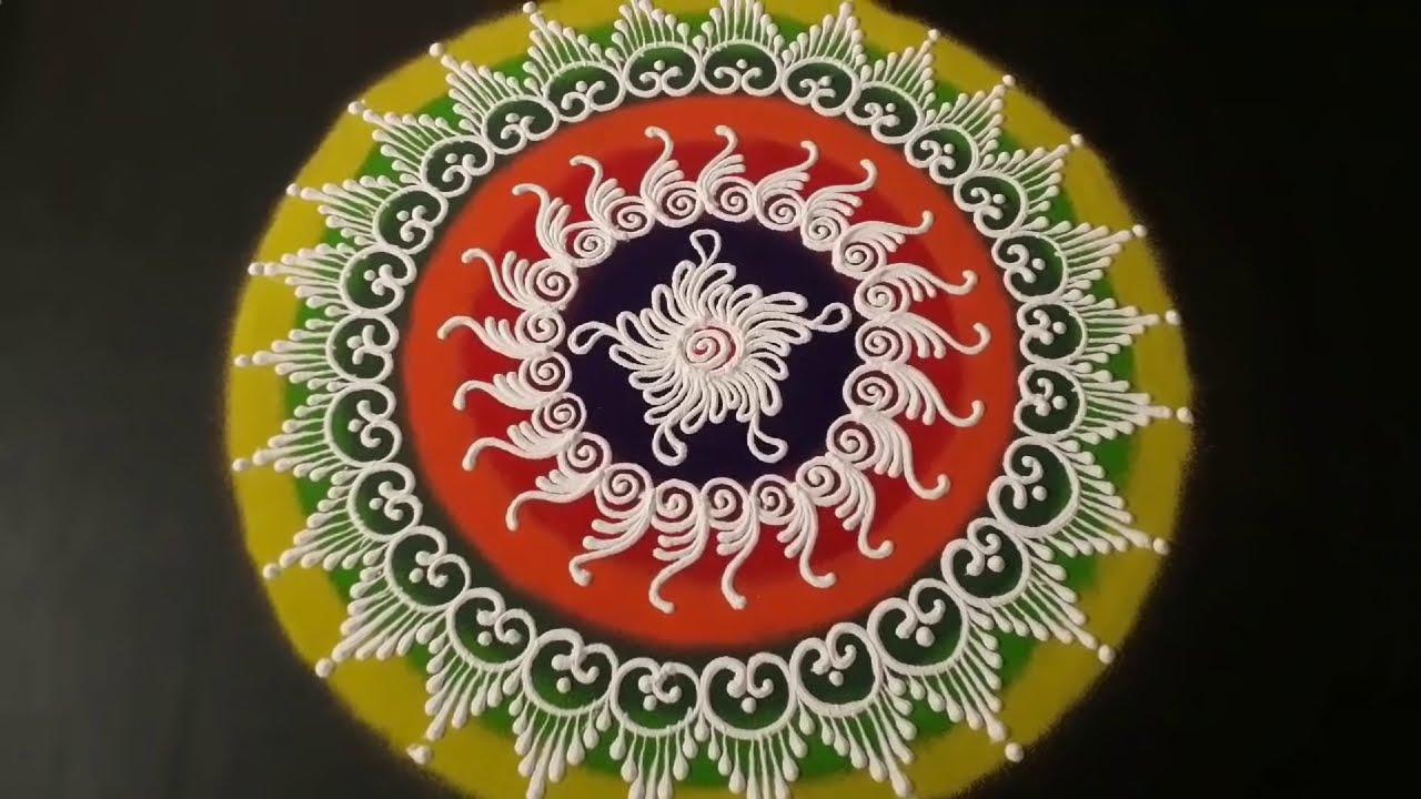 beautiful sanskar bharti rangoli design by pranali tulsankar