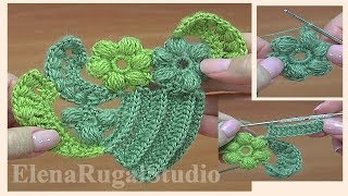 How To Crochet Freeform Technique Tutorial 17 자유형 기법을 코바늘로 뜨개질하는 방법