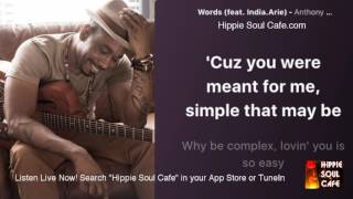Anthony David India Arie   Words (Lyrics)
