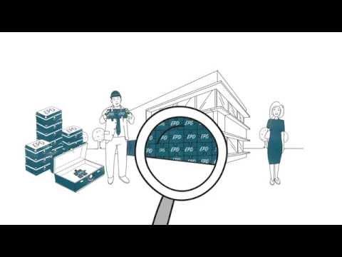 Erklärfilm zur Umwelt-Produktdeklaration (EPD) im Kontext des nachhaltigen Bauens.