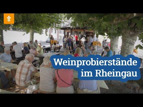 """""""Weinprobierstände im Rheingau"""". Quelle: Youtube"""