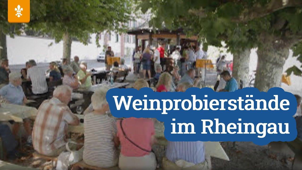 Weinprobierstände im Rheingau, Quelle: Youtube