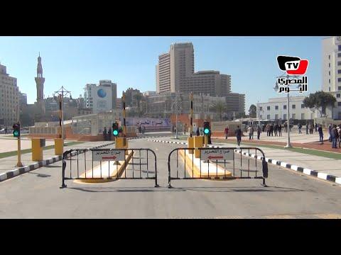 «محلب» يفتتح «جراج التحرير» المتعدد الطوابق