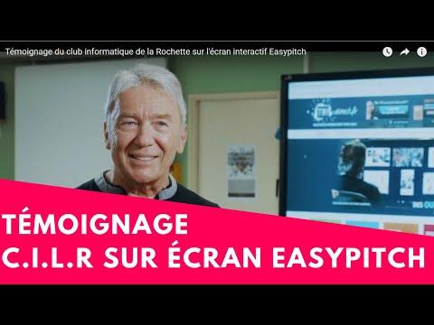 Témoignage du club informatique de la Rochette sur l'écran interactif Easypitch