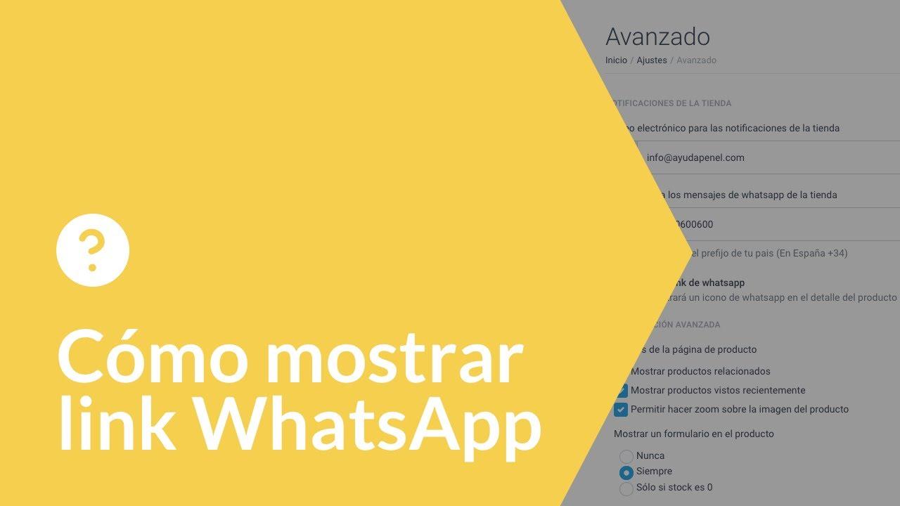 Cómo mostrar link WhatsApp