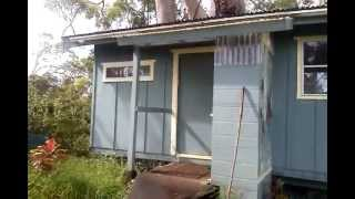 preview picture of video 'Tour of our cabin, Ninole, HI 09-02-2012'