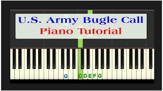 Easy Piano Tutorial: Reveille U.S. Army Bugle Call with free PDF sheet music