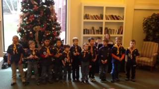 Cub scouts at St. Therese
