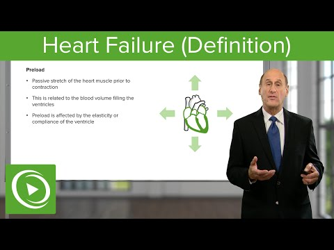 Heart Failure (Definition) – Cardiology | Lecturio