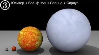 Размеры космических тел. Размеры Вселенной