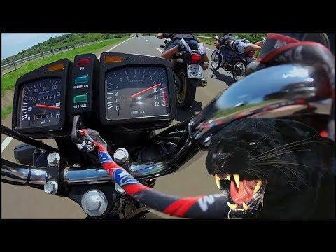RD 135 VS CB 300 VS CG MOTOR STRADA 230 *assista!!!* TWO STROKE RACING