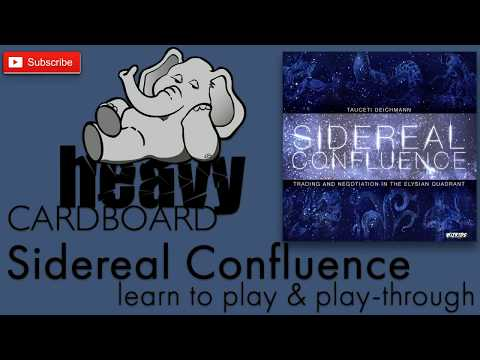 Sicereal Confluence 5p Play-through, Teaching, & Roundtable by Heavy Cardboard