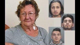 Трое грабителей подходят к бабушке, стоящей у банкомата: Ох, зря они решились ее ограбить