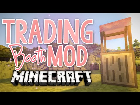 Minecraft: Mod Showcase: TRADING BOOTH MOD!