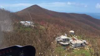 9/10/17 Aerial Footage Northside of St John USVI after Hurricane Irma