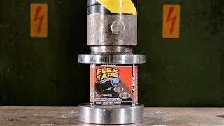 Crushing FLEX TAPE with Hydraulic Press | in 4K!