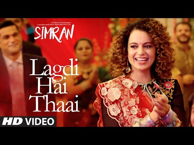 Lagdi Hai Thaai Video Song | Simran Movie Songs | Kangana Ranaut