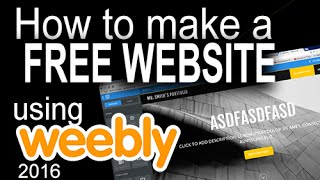 Weebly 2016 - Introduction tutorial to weebly.com: Create a Free Website