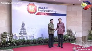PRESIDENT DUTERTE ARRIVES JOINS HIS FELLOW ASEAN HEADS OF STATE LEADERS GATHERING iN INDONESIA