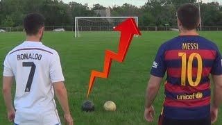 Cristiano Ronaldo vs. Messi - Crossbar Challenge   In Real Life!