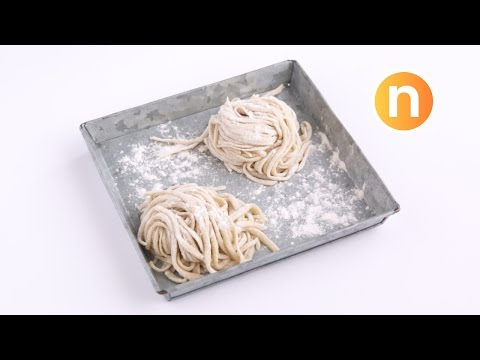 Homemade Wheat Noodles (without Egg) | Chinese Wheat Noodles [Nyonya Cooking]