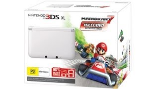 preview picture of video 'Unboxing: 3DS XL Weiß + Mario Kart 7 & Snakebyte Travel Set 3DS XL (Deutsch) HD'