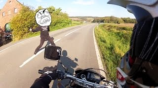 Angry Guy Attacks Biker