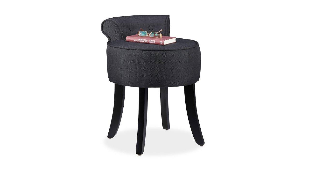 Video von: Stuhl mit niedriger Lehne in Schwarz
